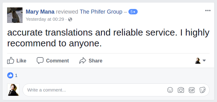 Maurizio FB review the PHIFER group amazon listing translation
